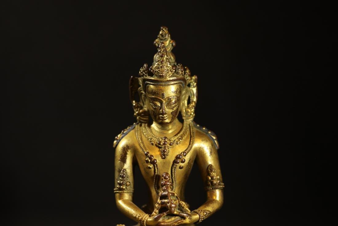 Ming Dynasty - Gilted Buddha Statue - 5