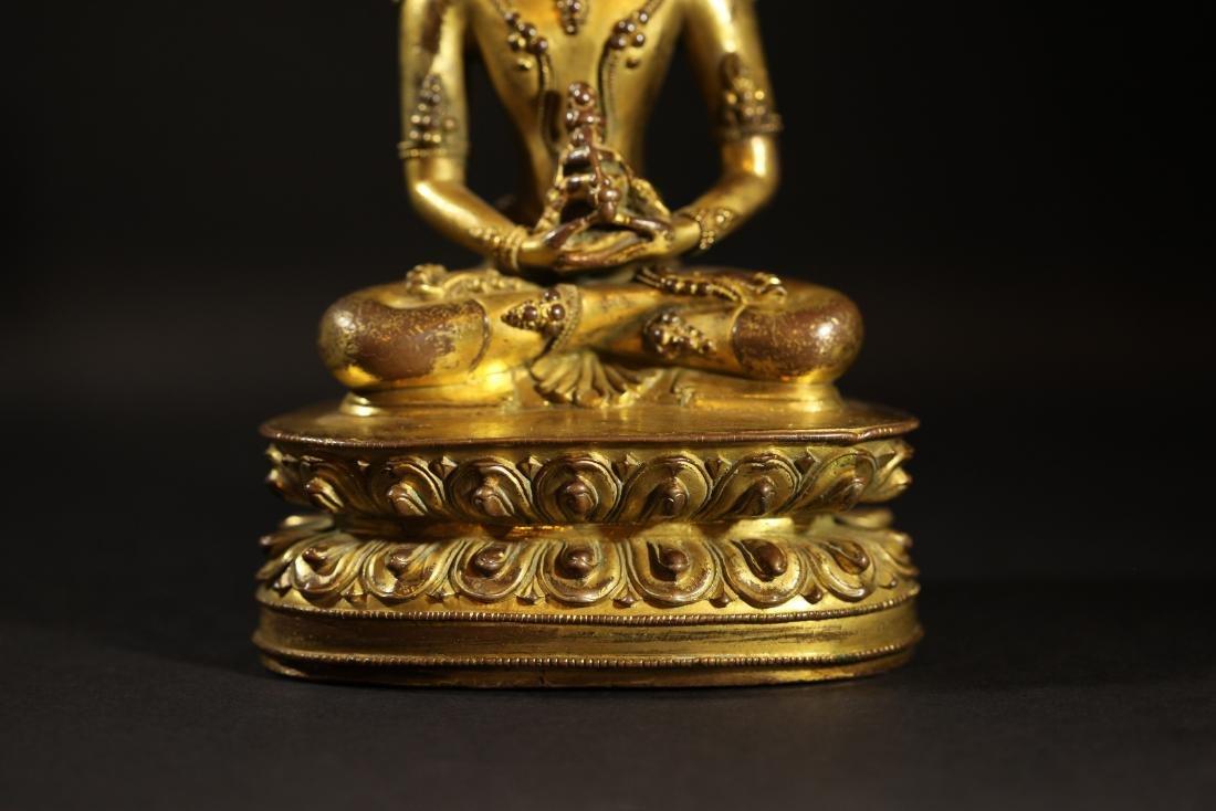 Ming Dynasty - Gilted Buddha Statue - 6