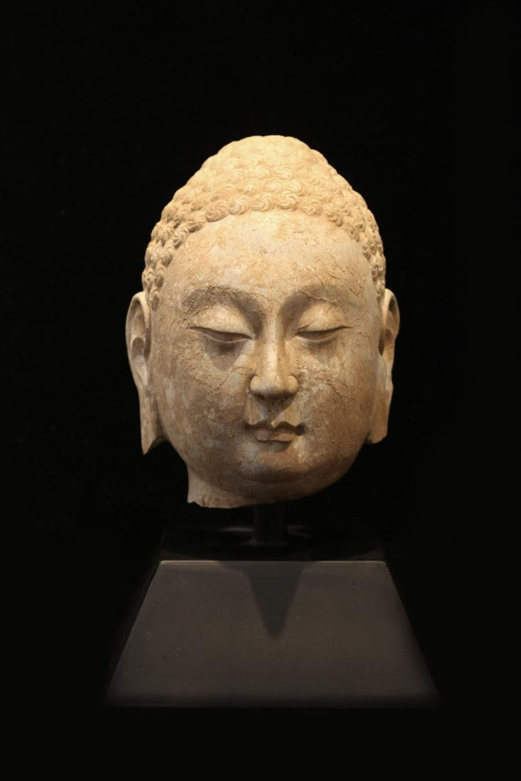 Northern Qi - Bluestone Buddha Head Statue