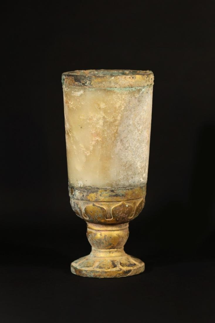 Warring State-Gilted Cup w/ Jade Inlaid - 3