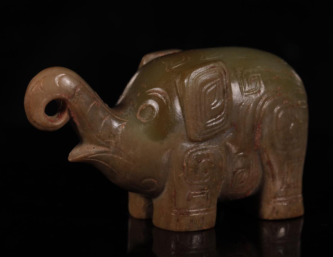 Shang Dynasty - Pair of Jade Elephant - 7