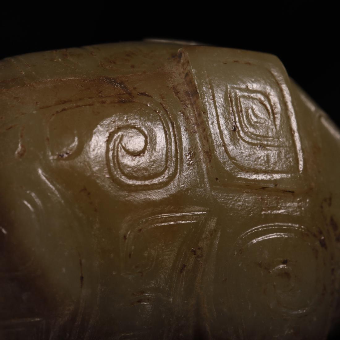 Shang Dynasty - Pair of Jade Elephant - 8
