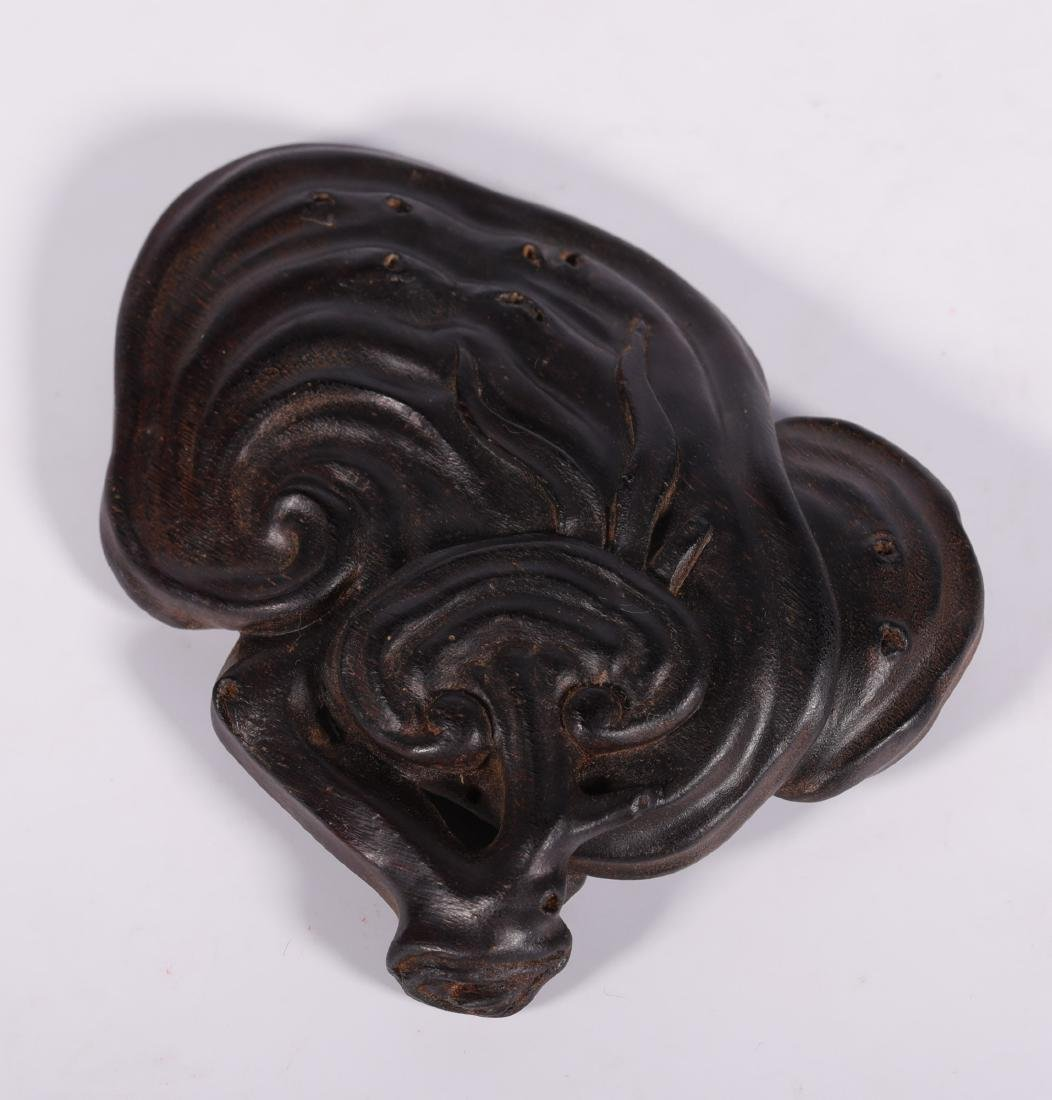 Qing Dynasty - Lingzhi Shapped Horn Decoration - 4