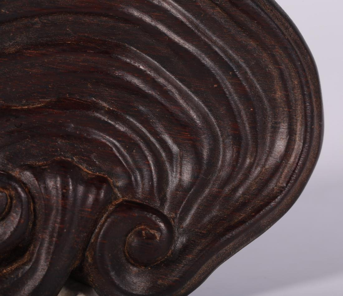 Qing Dynasty - Lingzhi Shapped Horn Decoration - 7