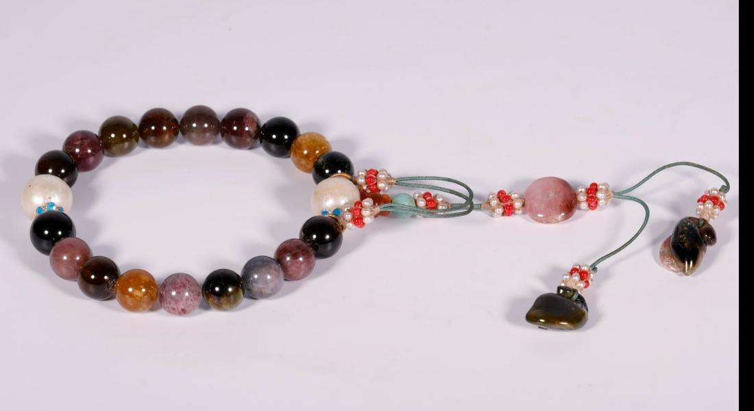 Qing Dynasty - 18 Tourmaline Bracelet - 2