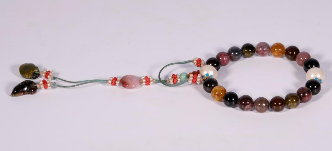 Qing Dynasty - 18 Tourmaline Bracelet - 3