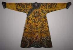 Qing Dynasty - Damask Emperor's Robe