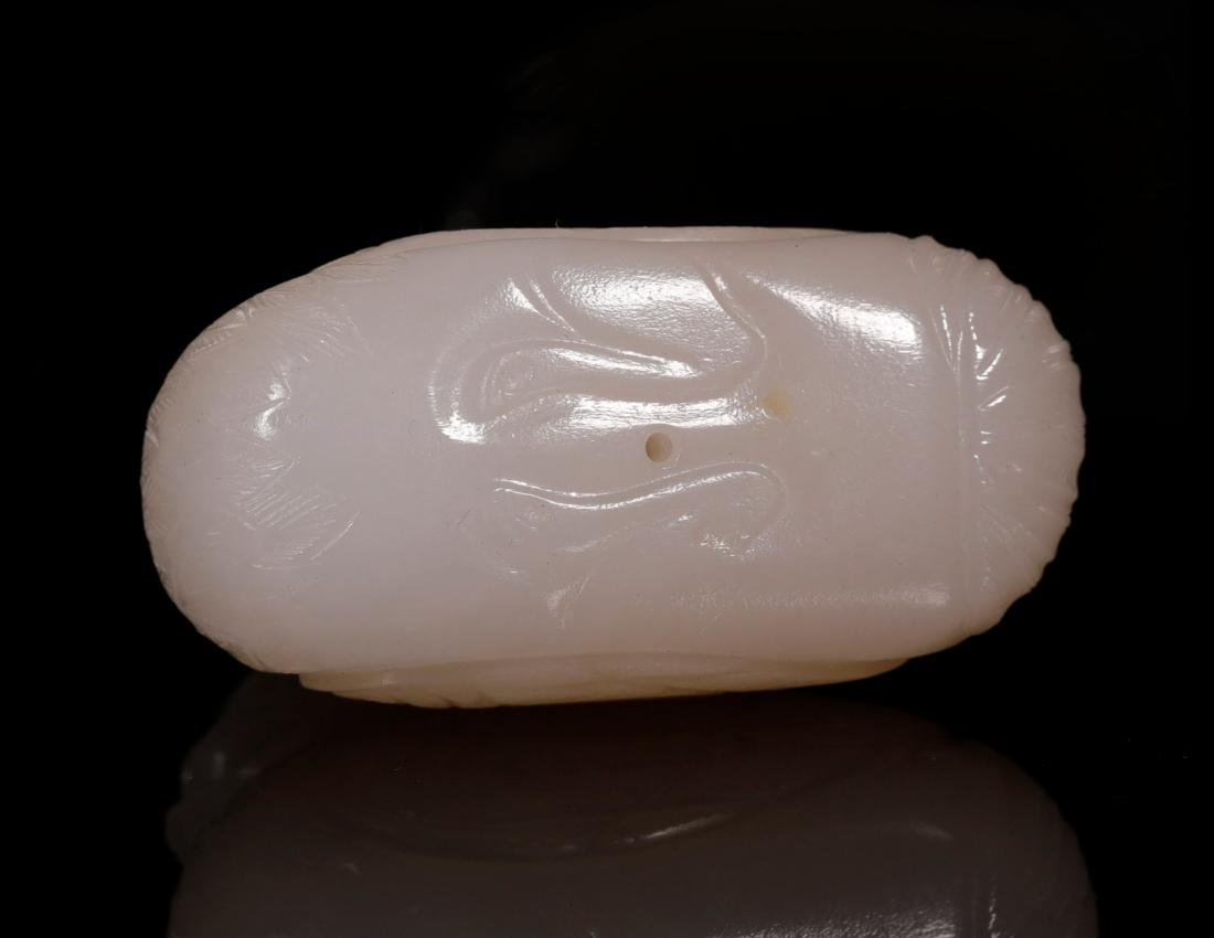 """Qing Dynasty-""""Hetian"""" Jade Chicken Shapped Decoration - 3"""