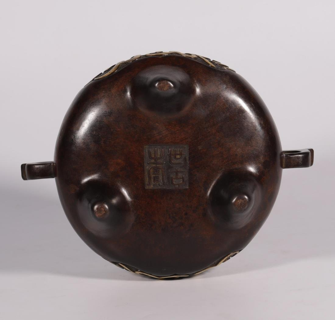 Qing Dynasty - Gilted & Pattern Censer - 5