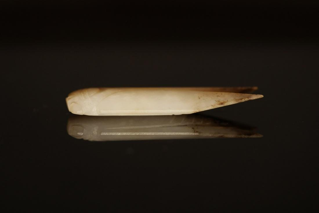 "Han Dynasty - Carved ""Hetian"" Jade Cicada - 4"