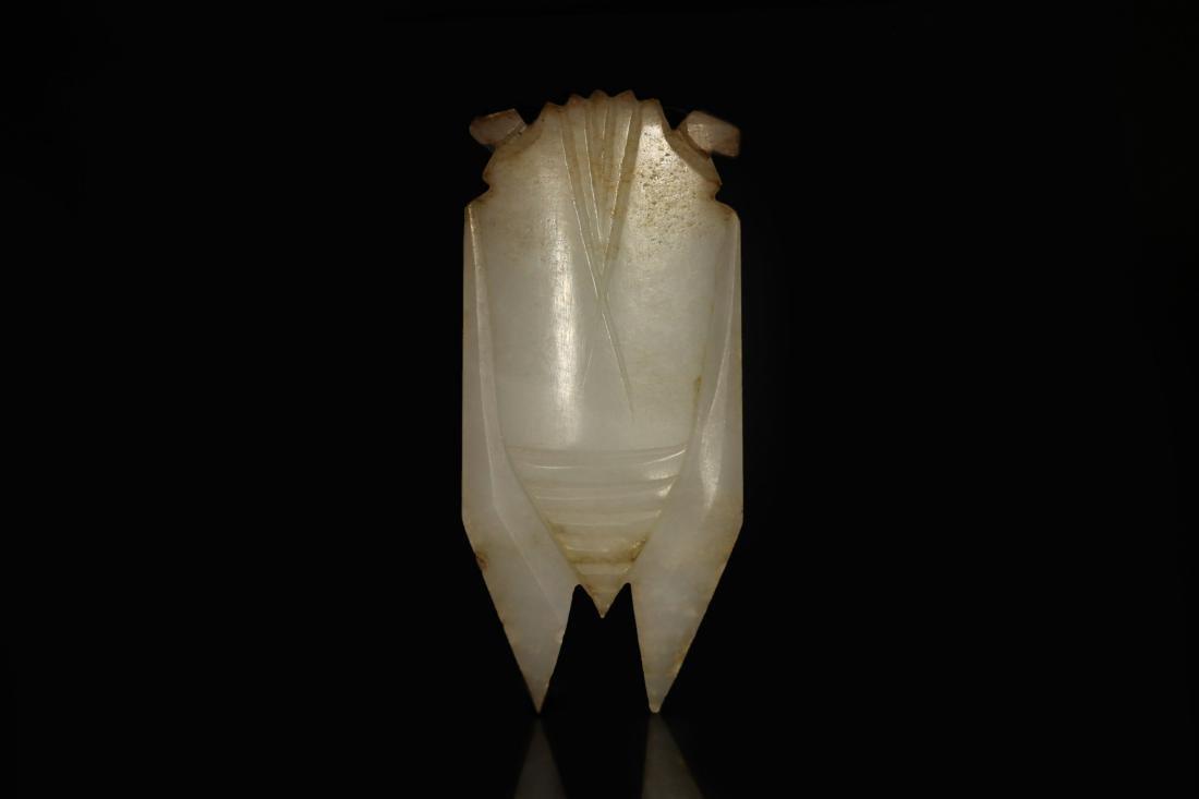 "Han Dynasty - Carved ""Hetian"" Jade Cicada - 2"