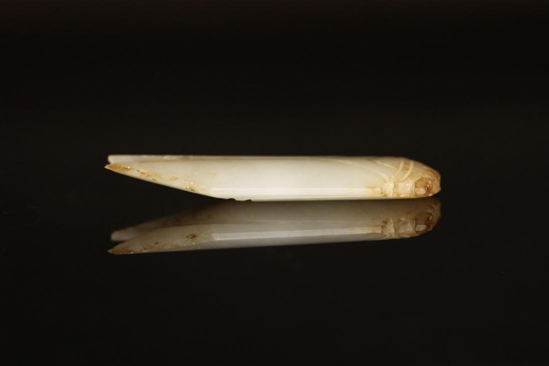 "Han Dynasty - Carved ""Hetian"" Jade Cicada - 3"