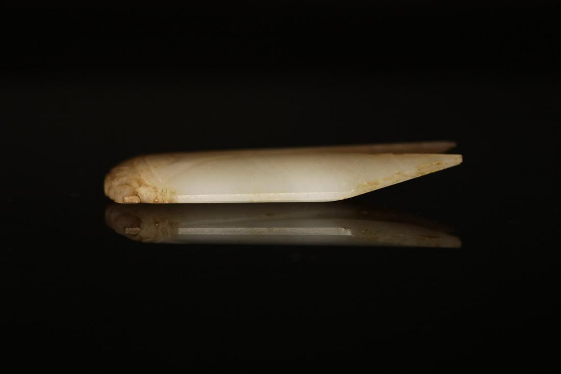 "Han Dynasty - Carved ""Hetian"" Jade Cicada - 5"