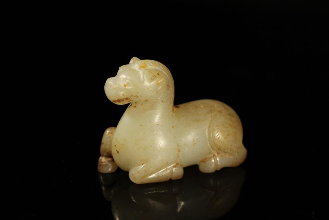 """Han Dynasty - Carved """"Hetian"""" Jade Horse"""
