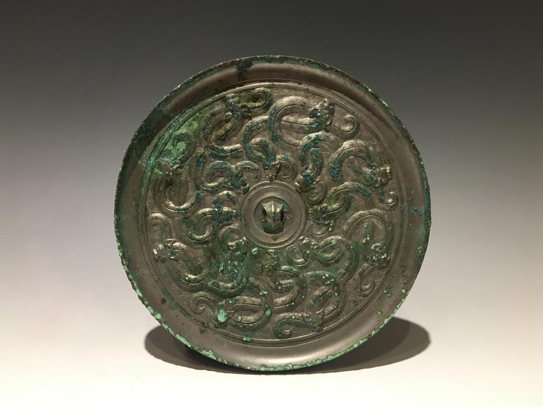 Warring State - Carved Bronze Mirror