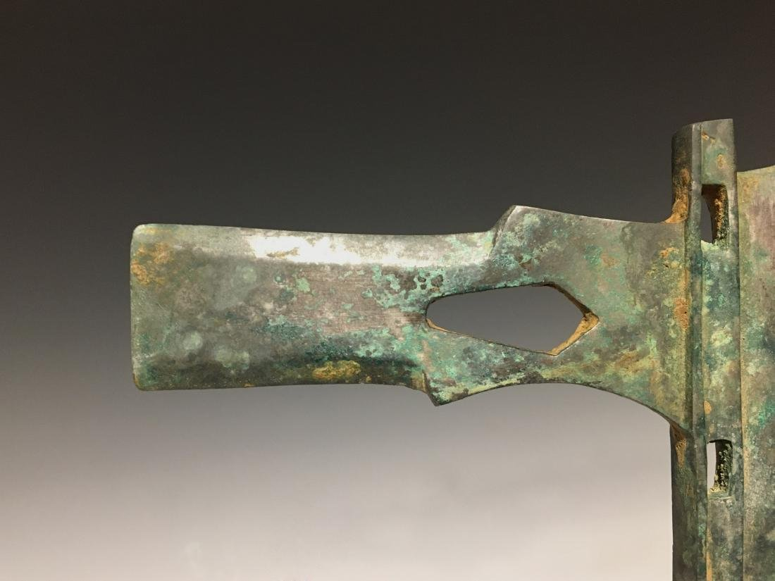Warring Sate - Carved Bronze Ax Head - 5