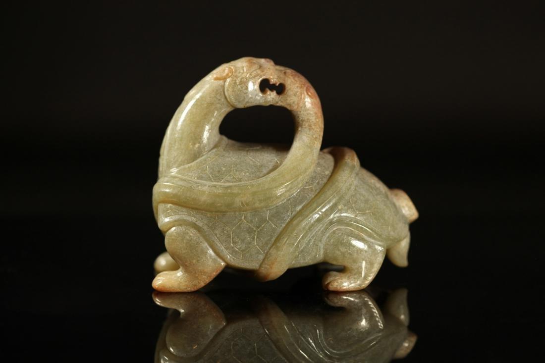 Han Dynasty - Tortoise w/ Snake Jade Ornament