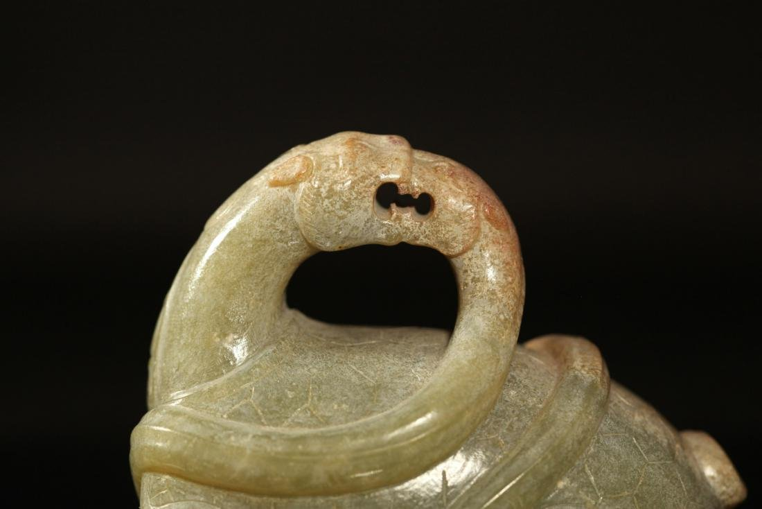 Han Dynasty - Tortoise w/ Snake Jade Ornament - 5