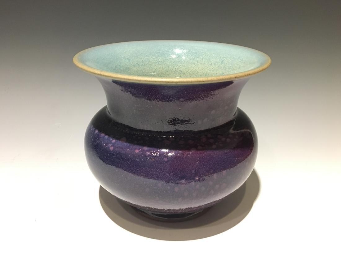 Song Dynasty -Red Blazed Jun Ware Flower Pot