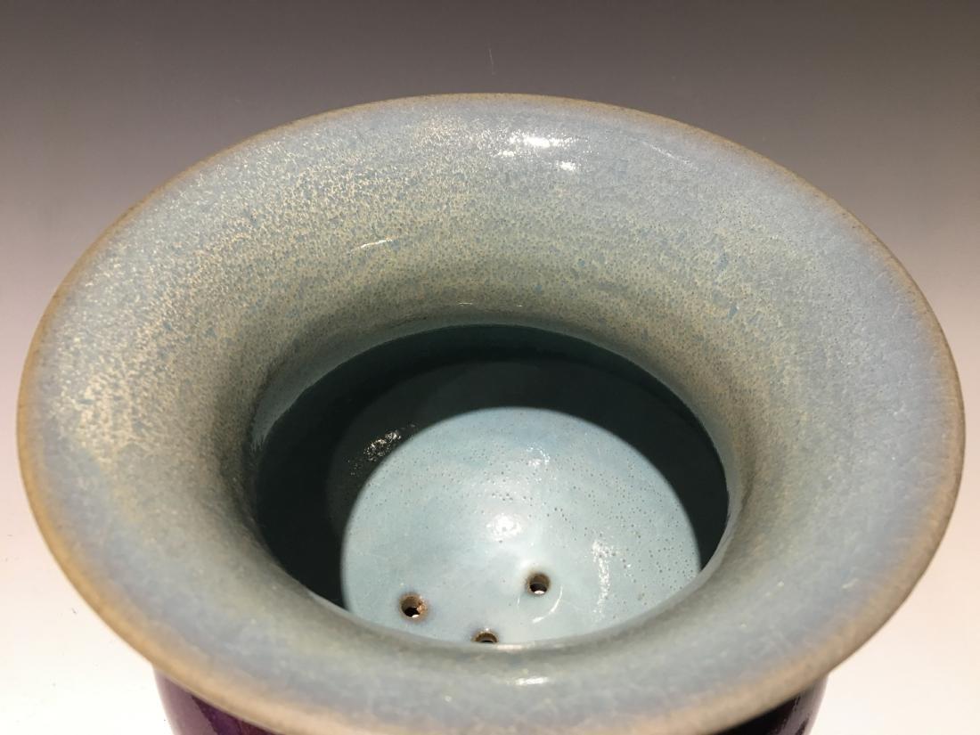 Song Dynasty -Red Blazed Jun Ware Flower Pot - 3