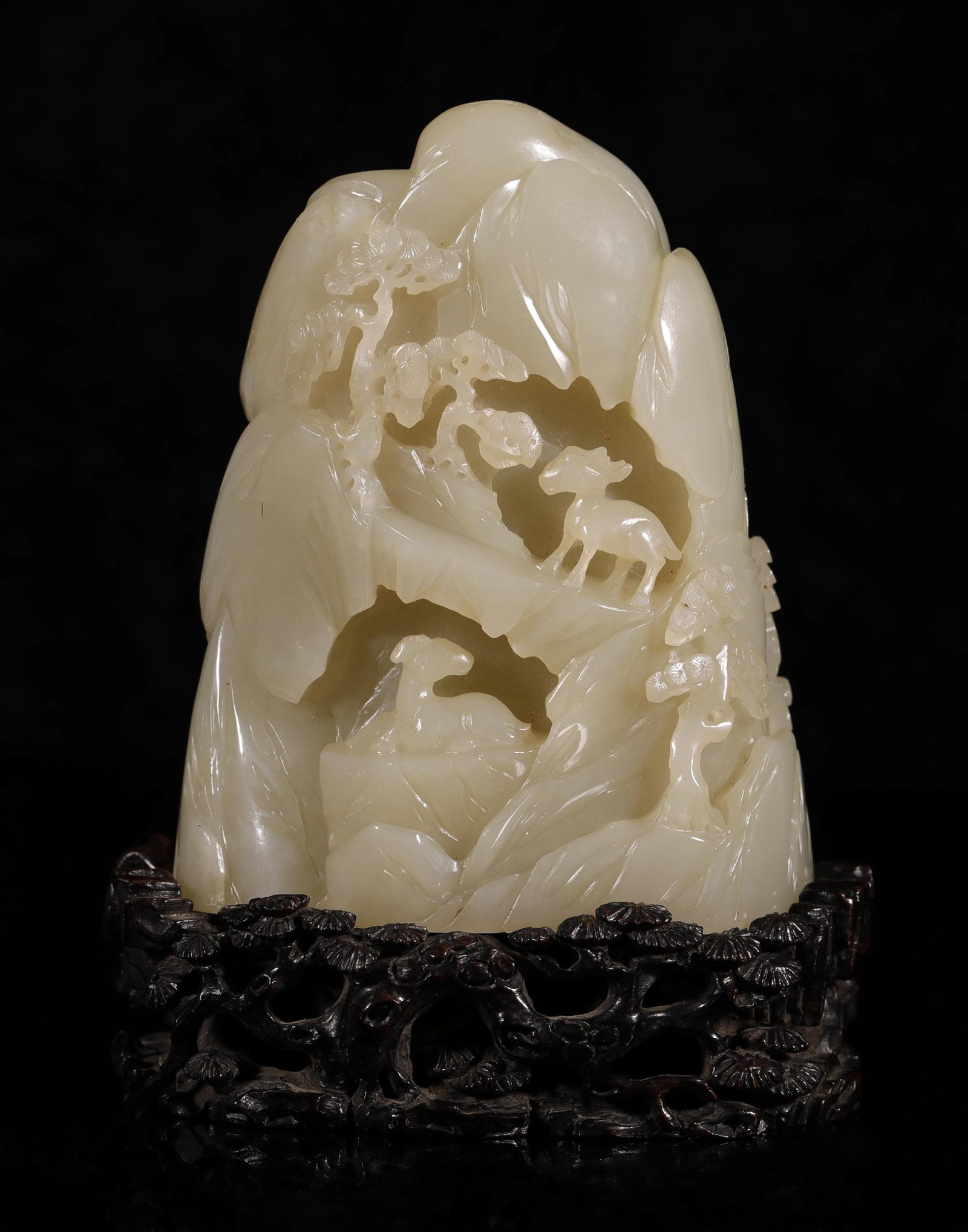 Qing Dynasty - Mountain Shape Hetian Jade Ornament