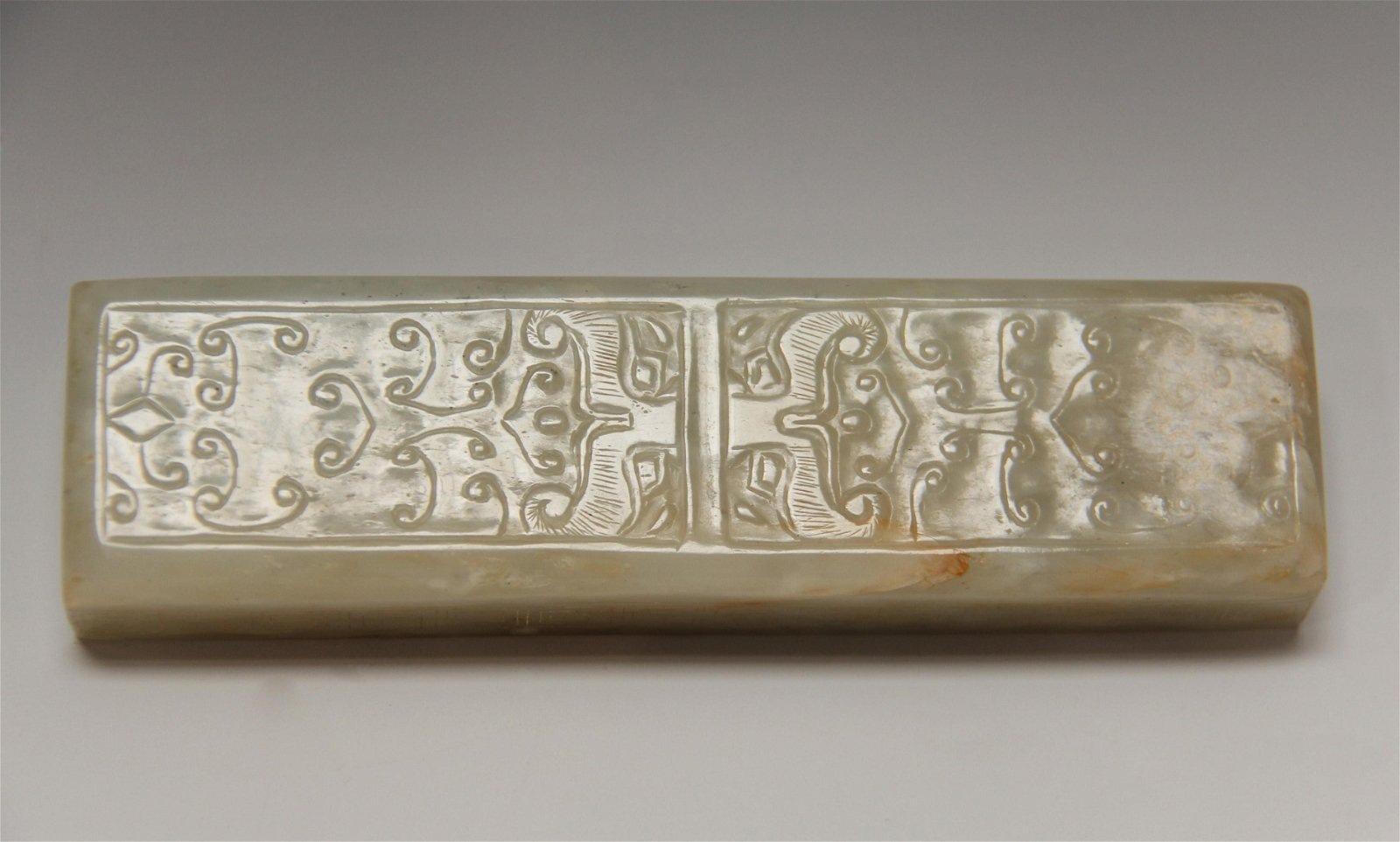 Qing Dynasty - Carved Jade Paperweight