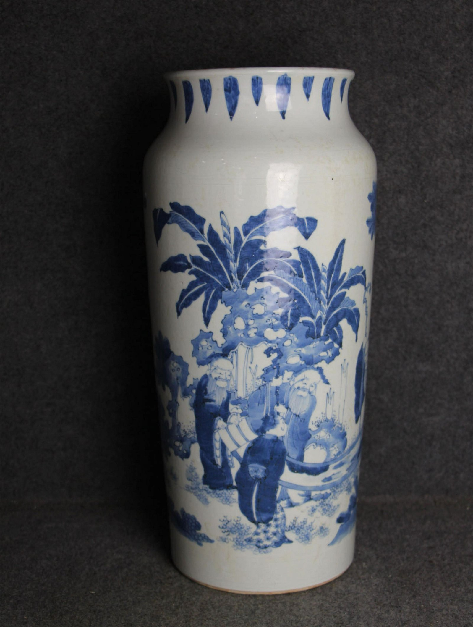 Early Qing Dynasty-Blue and White Porcelain Penholder