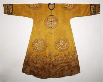 Qing Dynasty - Embroidered Dragon Robe