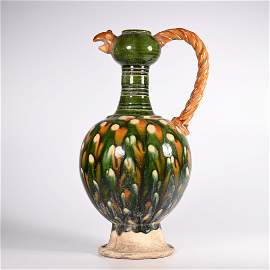 Tang Dynasty - Green Glaze Vase