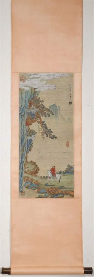 "Ming Dynasty - ""Qiu Ying"" Figure Painting"