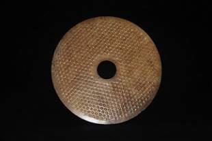 Han Dynasty - Patterned Jade Bi