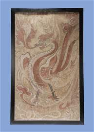 Tang Dynasty - Colored Vermilion Bird Wall Painting