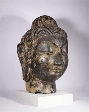 Tang Dynasty - Bronze Buddha Head