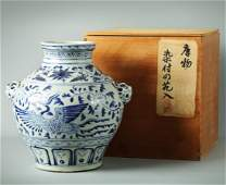 Qing Dynasty - Blue and White Porcelain Jar