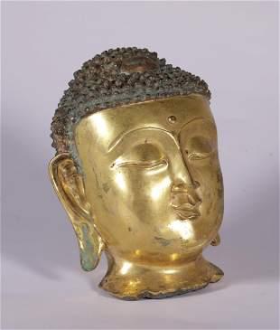 Ming Dynasty - Gilt Buddha Head