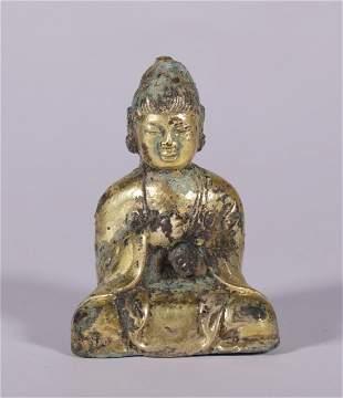 Tang Dynasty - Gilt Buddha Statue