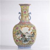Qing Dynasty Qianlong Era Fencai Vase