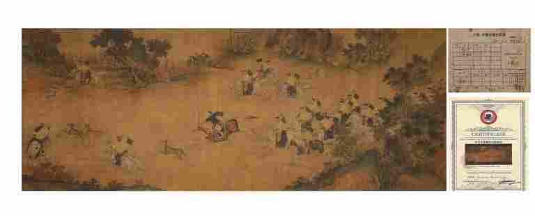 Qing Dynasty Lang Shining Hunting Painting