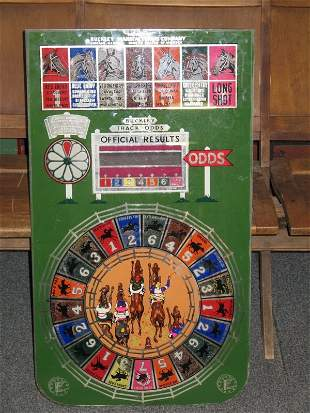 BUCKLEY HORSE RACING GAME BACK GLASS