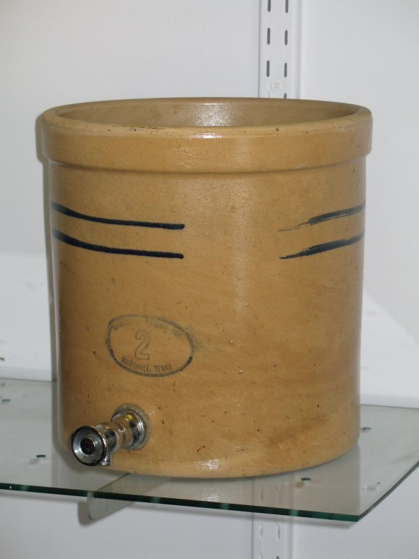 18: MARSHALL POTTERY CROCK WATER DISPENSER