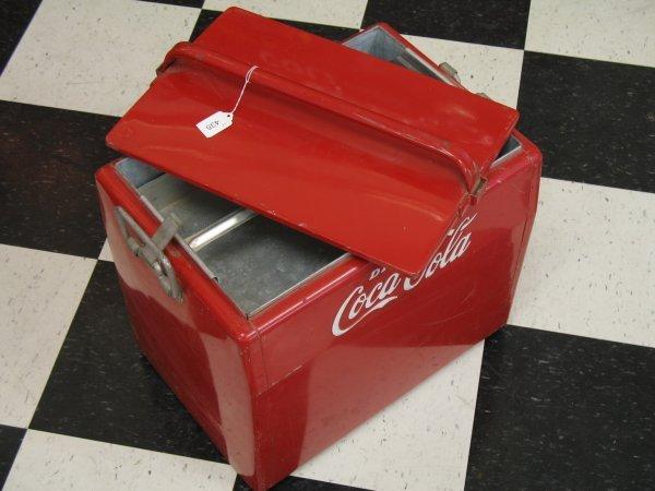 435: 1950s COCA-COLA CAVALIER PICNIC COOLER ICE CHEST - 9