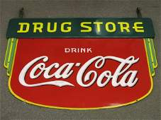 505: 1935 COCA-COLA DSP DRUG STORE SIGN