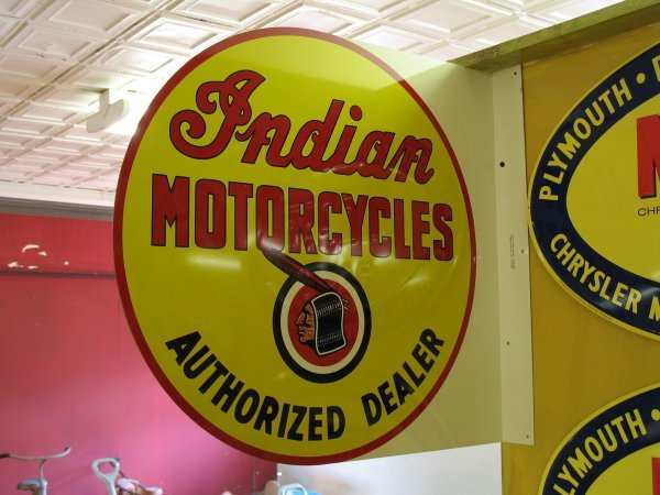 507: INDIAN MOTORCYCLE FLANGE SIGN REPRODUCTION