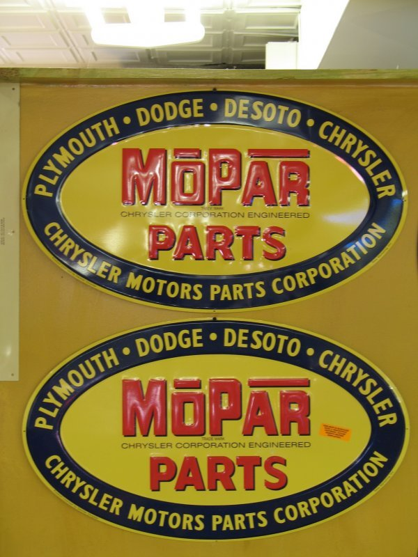 508: MOPAR PARTS EMBOSSED SIGNS CHRYLER REPRODUCTION