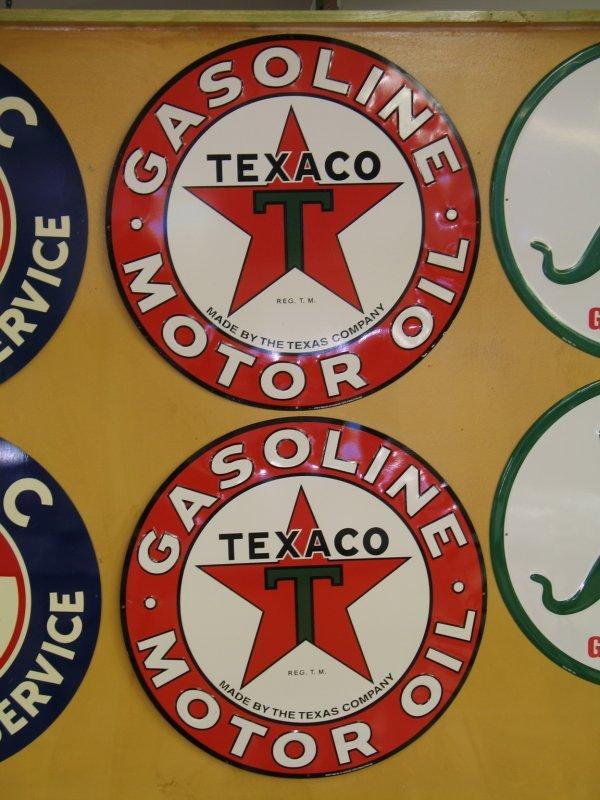 511: TEXACO MOTOR OIL GASOLINE SIGNS REPRODUCTION