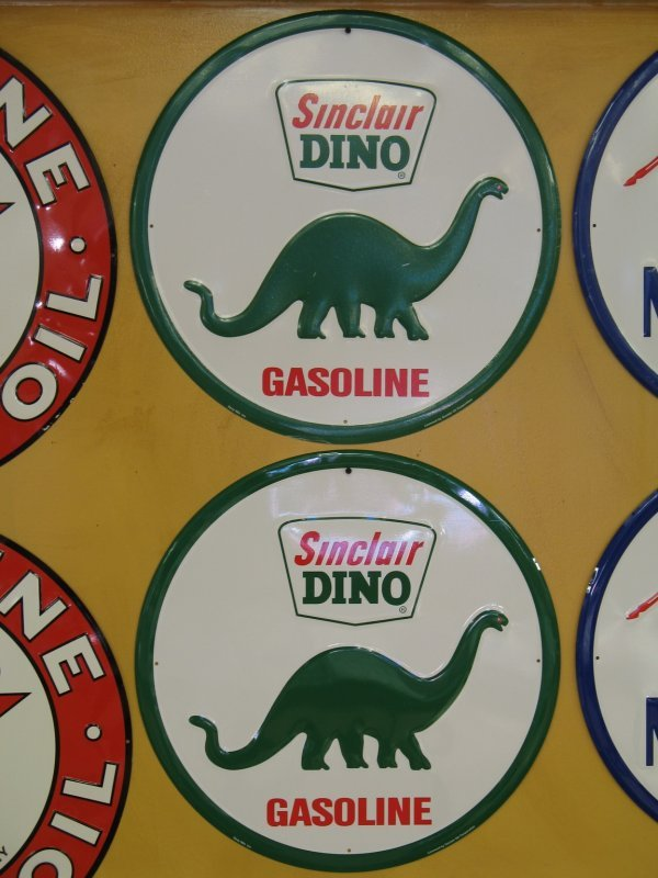 512: SINCLAIR DINO GASOLINE EMBOSSED SIGNS REPRODUCTION