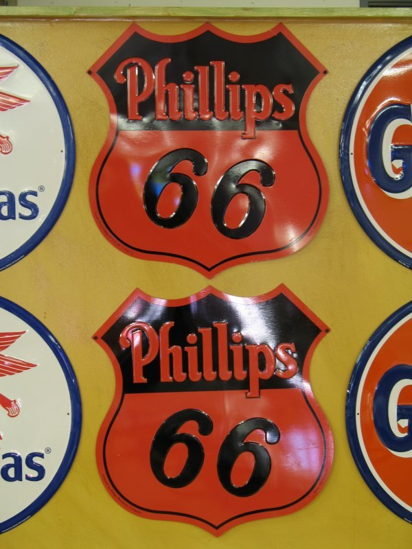 514: PHILLIPS 66 OIL EMBOSSED SIGNS REPRODUCTION