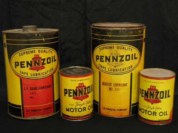 755: VINTAGE PENNZOIL MOTOR OIL CAN PRODUCTS