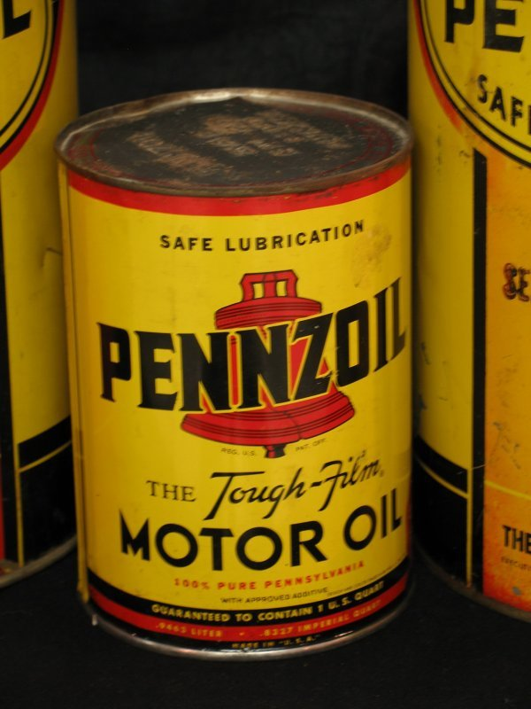 755: VINTAGE PENNZOIL MOTOR OIL CAN PRODUCTS - 3
