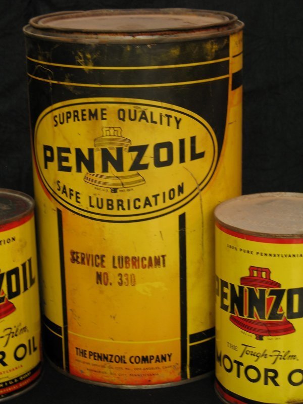 755: VINTAGE PENNZOIL MOTOR OIL CAN PRODUCTS - 4